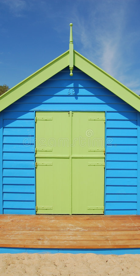 σπίτι παραλιών ενιαίο στοκ φωτογραφία