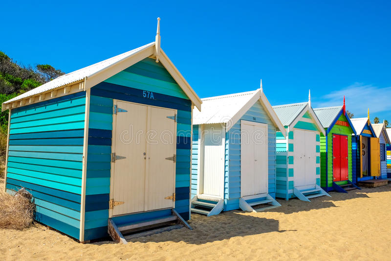 Σπίτι παραλιών στην παραλία του Μπράιτον στοκ φωτογραφίες