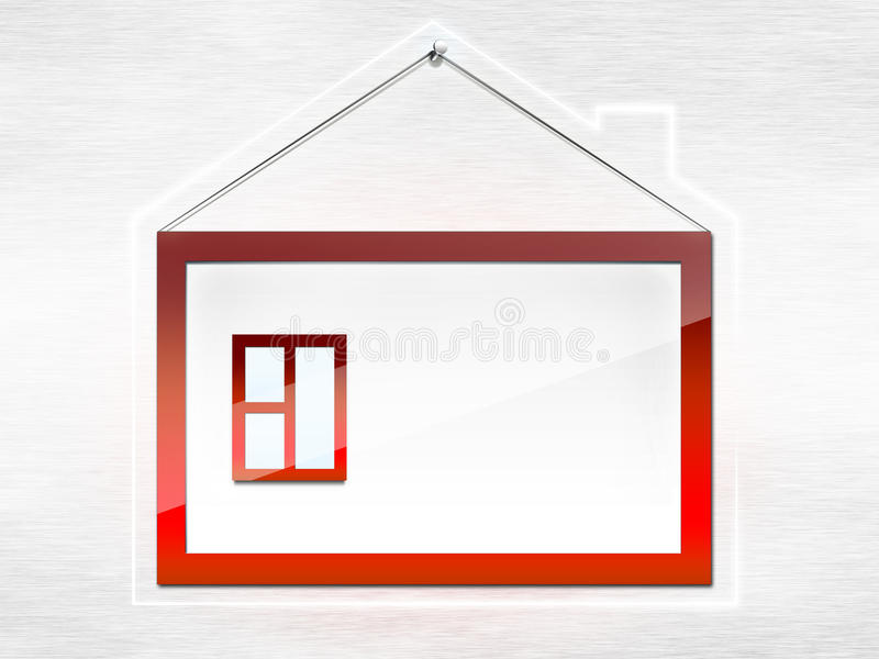 σπίτι πλαισίων διανυσματική απεικόνιση