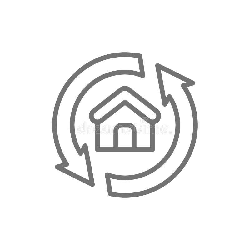 Σπίτι που αναδιαμορφώνει, αναδιαμόρφωση, εικονίδιο εγχώριων γραμμών επισκευής ελεύθερη απεικόνιση δικαιώματος