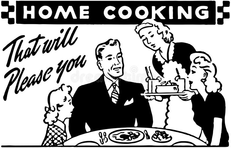 Σπίτι που μαγειρεύει 2 διανυσματική απεικόνιση