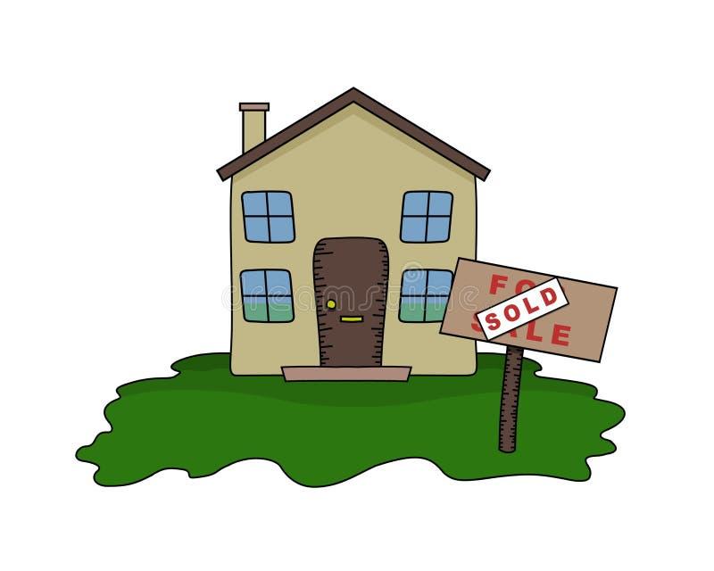 σπίτι που πωλείται διανυσματική απεικόνιση