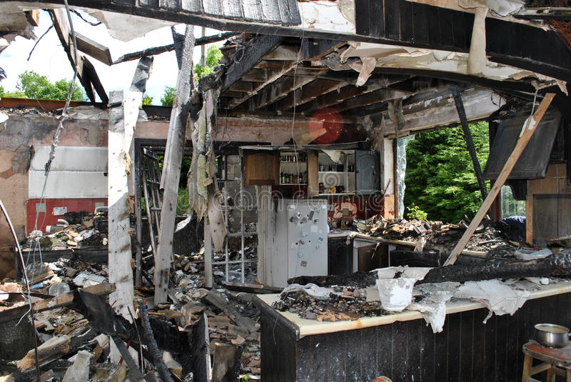 σπίτι πυρκαγιάς στοκ φωτογραφία
