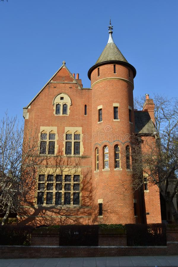 Σπίτι πύργων του William Burges στοκ εικόνα