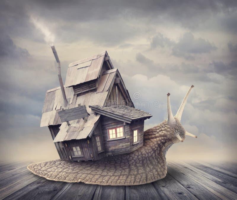 Σπίτι σαλιγκαριών στοκ φωτογραφίες με δικαίωμα ελεύθερης χρήσης