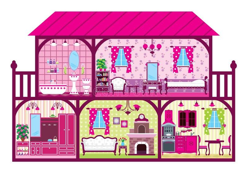 Σπίτι σε μια αποκοπή απεικόνιση αποθεμάτων