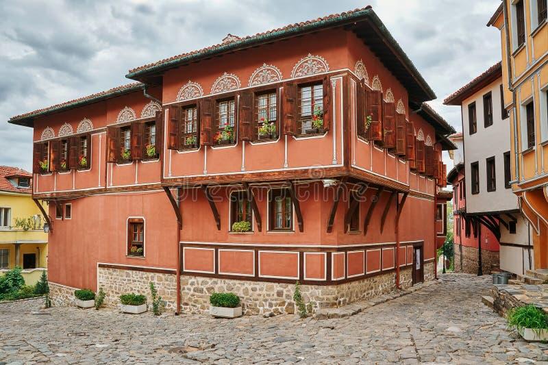 Σπίτι σε παλαιό Plovdiv, Βουλγαρία στοκ εικόνα