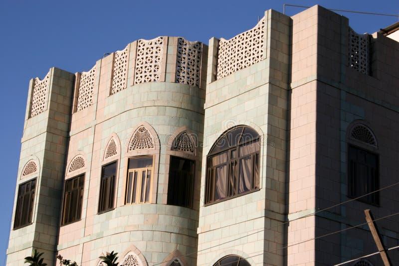 Σπίτι σε Sanaa, Υεμένη, Μέση Ανατολή στοκ φωτογραφίες με δικαίωμα ελεύθερης χρήσης