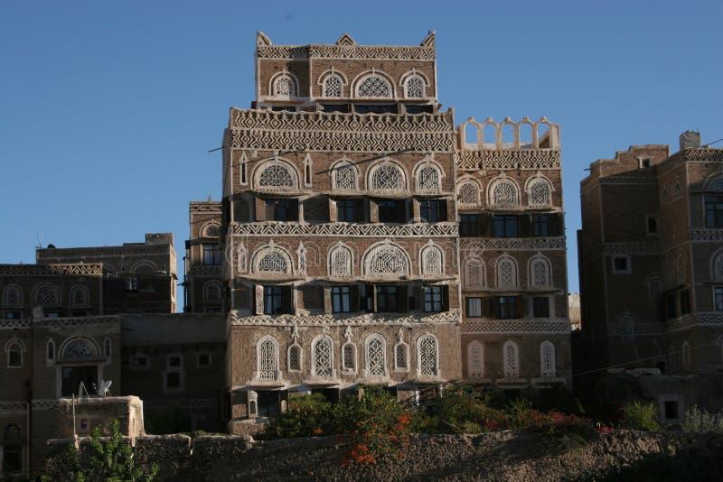 Σπίτι σε Sanaa, Υεμένη, Μέση Ανατολή στοκ φωτογραφία με δικαίωμα ελεύθερης χρήσης