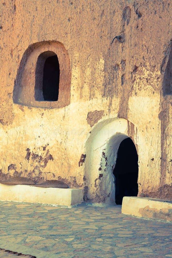 Σπίτι σπηλιών στο matmata, Τυνησία στην έρημο Σαχάρας στοκ φωτογραφίες
