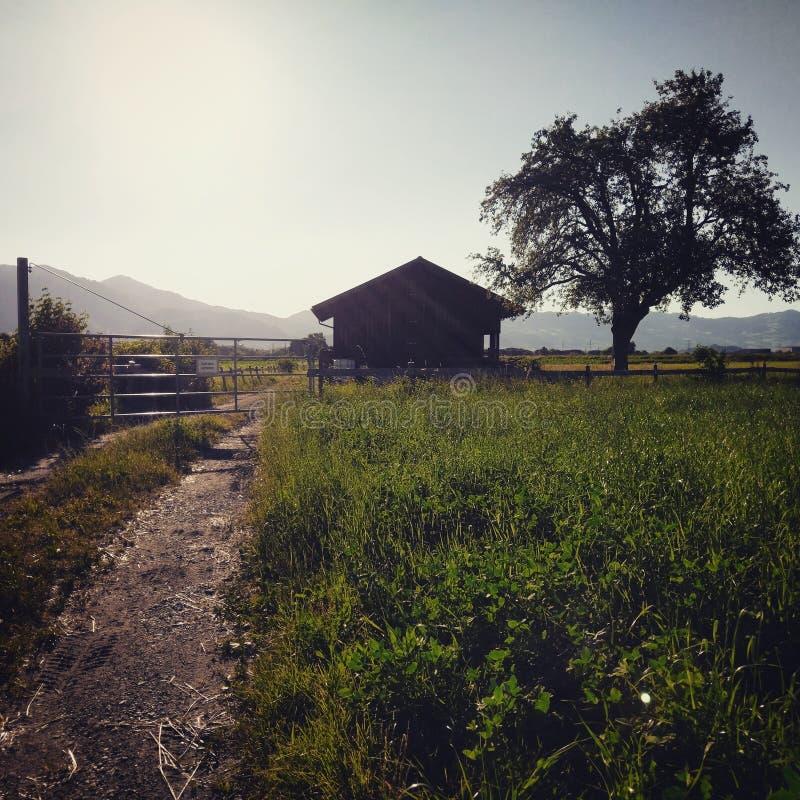 Σπίτι στα felds στοκ φωτογραφίες με δικαίωμα ελεύθερης χρήσης