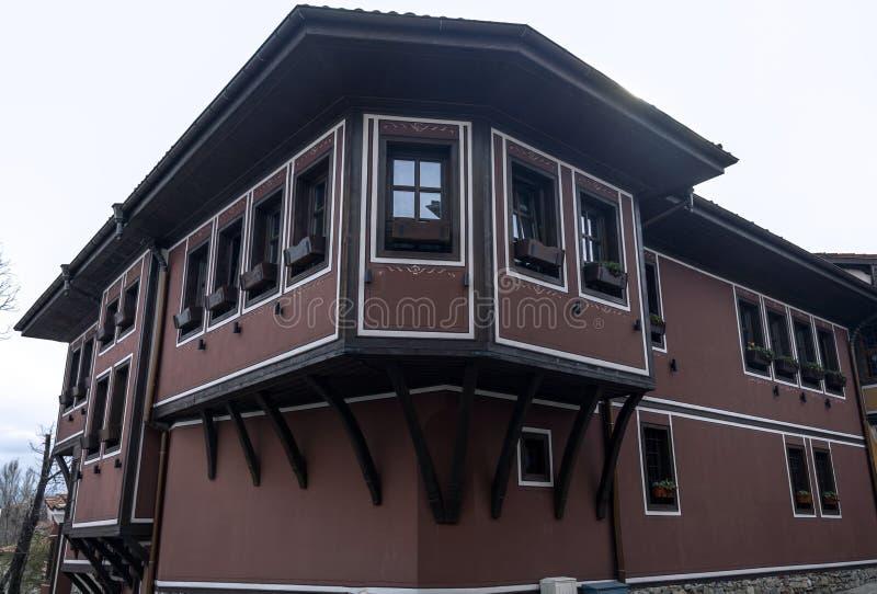 Σπίτι στην παλαιά πόλη Plovdiv, Βουλγαρία στοκ εικόνες