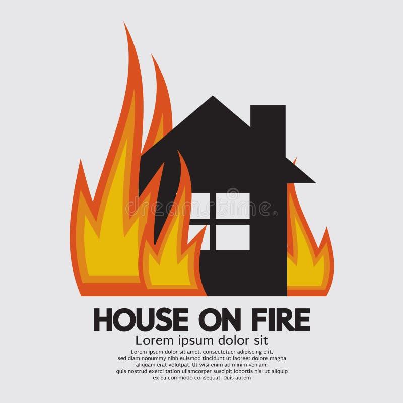 Σπίτι στην πυρκαγιά ελεύθερη απεικόνιση δικαιώματος