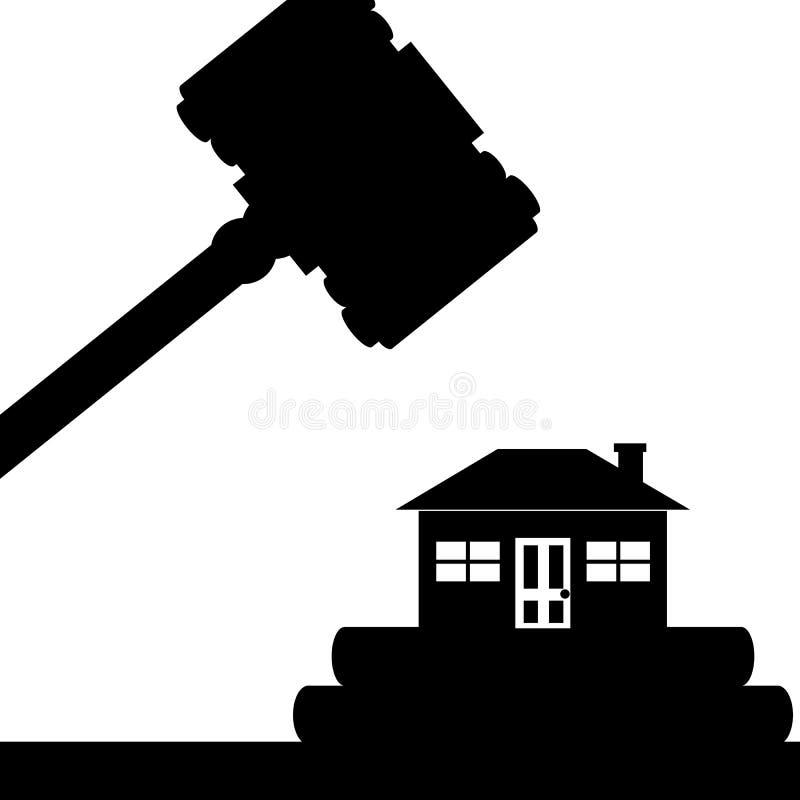 Σπίτι στο δικαστήριο διανυσματική απεικόνιση
