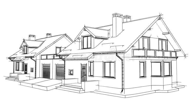 Σπίτι σχεδίων στοκ εικόνες