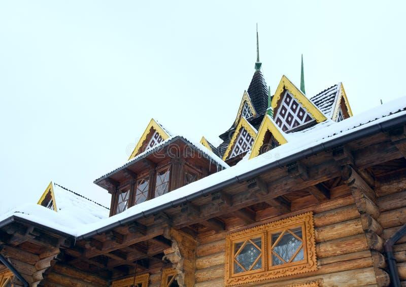σπίτι τεμαχίων χωρών ξύλινο στοκ φωτογραφίες με δικαίωμα ελεύθερης χρήσης