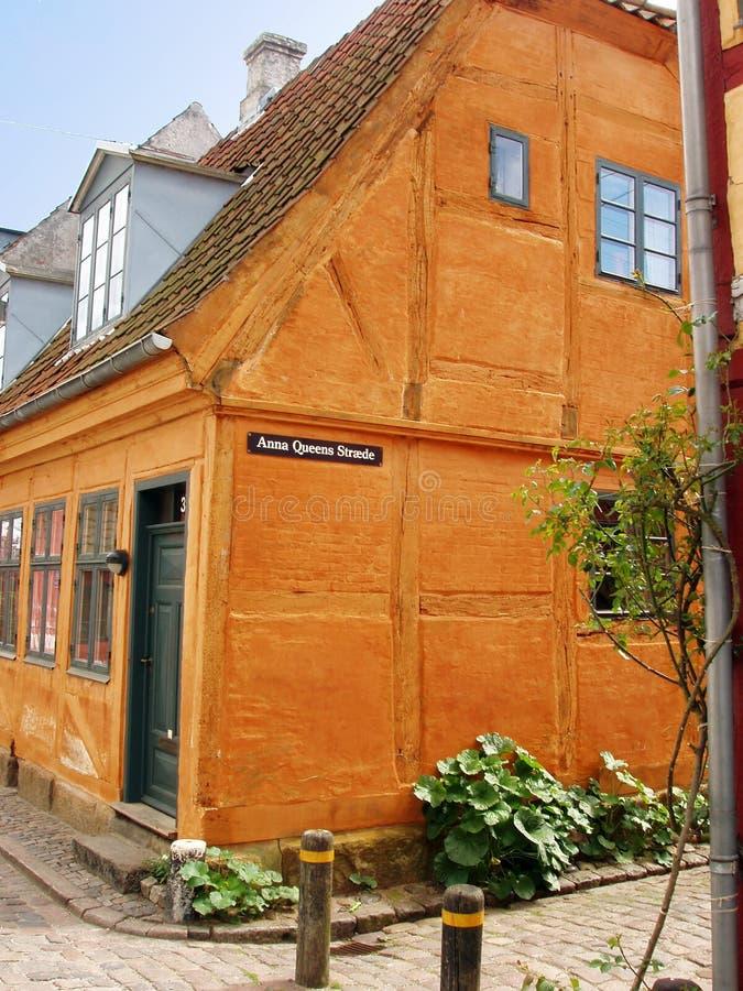 σπίτι της Δανίας helsingor παραδοσιακό στοκ φωτογραφία