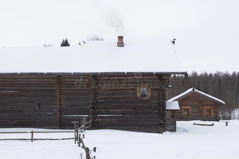 Σπίτι του ακμάζοντος αγρότη Zhukov στο μουσείο του ξύλινου α στοκ εικόνες με δικαίωμα ελεύθερης χρήσης