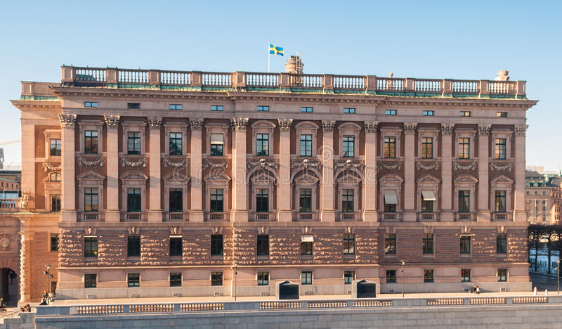 Σπίτι του Κοινοβουλίου (Riksdagshuset) στη Στοκχόλμη στοκ εικόνες