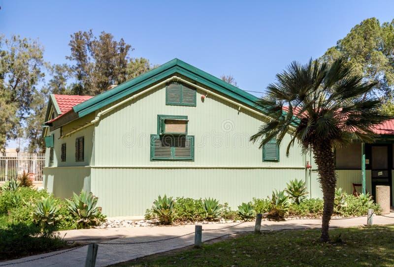 Σπίτι του Ντέιβιντ Μπεν Γκουριόν, Ισραήλ στοκ φωτογραφία με δικαίωμα ελεύθερης χρήσης