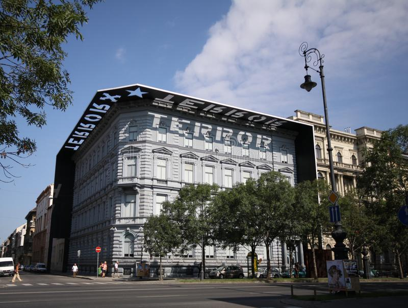 Σπίτι του τρόμου, μουσείο του πολέμου, δίωξη και βασανιστήρια σε Budap στοκ φωτογραφία