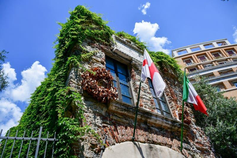 Σπίτι του Christopher Columbus στη Γένοβα, Ιταλία στοκ φωτογραφία με δικαίωμα ελεύθερης χρήσης