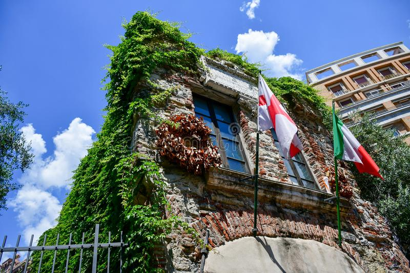 Σπίτι του Christopher Columbus στη Γένοβα, Ιταλία στοκ φωτογραφία