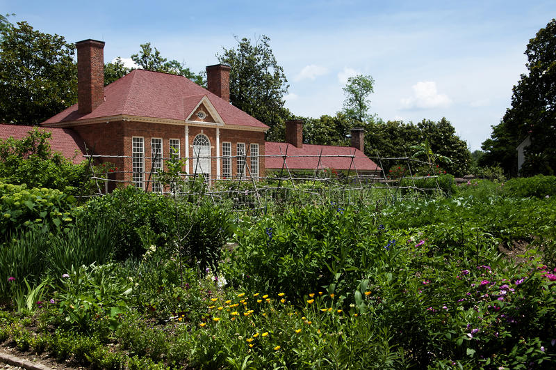 Σπίτι του George Washingtons ορών Βέρνον στις τράπεζες Potomac ΗΠΑ στοκ εικόνα με δικαίωμα ελεύθερης χρήσης