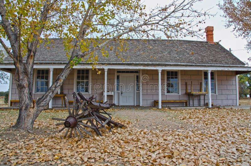 Σπίτι του Thomas Boggs σε Boggsville στο ίχνος Σάντα Φε στοκ εικόνα με δικαίωμα ελεύθερης χρήσης