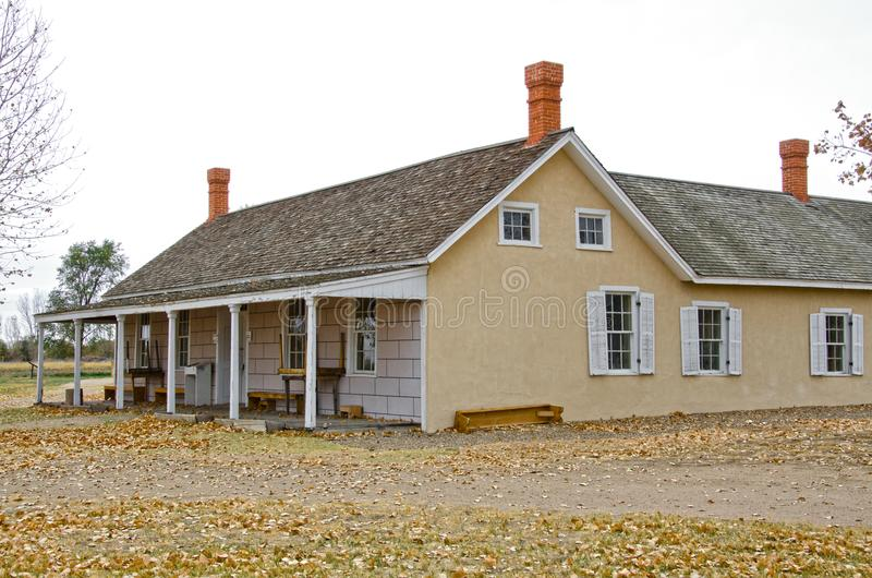 Σπίτι του Thomas Boggs σε Boggsville στο ίχνος Σάντα Φε στοκ φωτογραφία με δικαίωμα ελεύθερης χρήσης