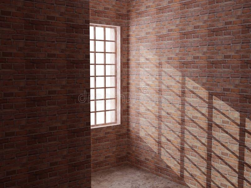 σπίτι τούβλου διανυσματική απεικόνιση