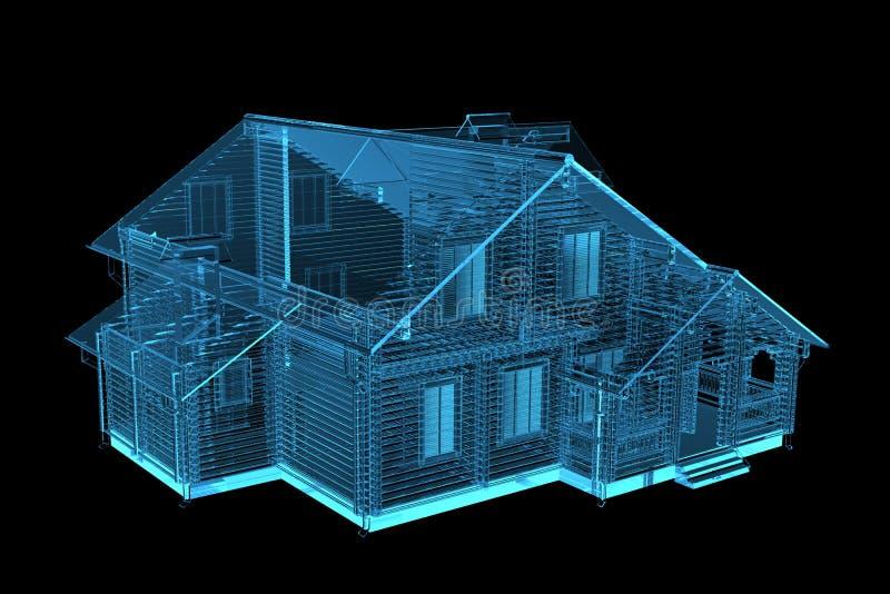 Σπίτι των ακτίνων X μπλε διαφανής ελεύθερη απεικόνιση δικαιώματος