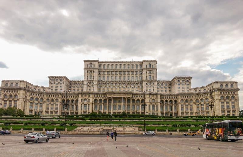 Σπίτι των ανθρώπων στο Βουκουρέστι, το ρουμανικό Κοινοβούλιο στοκ εικόνα με δικαίωμα ελεύθερης χρήσης