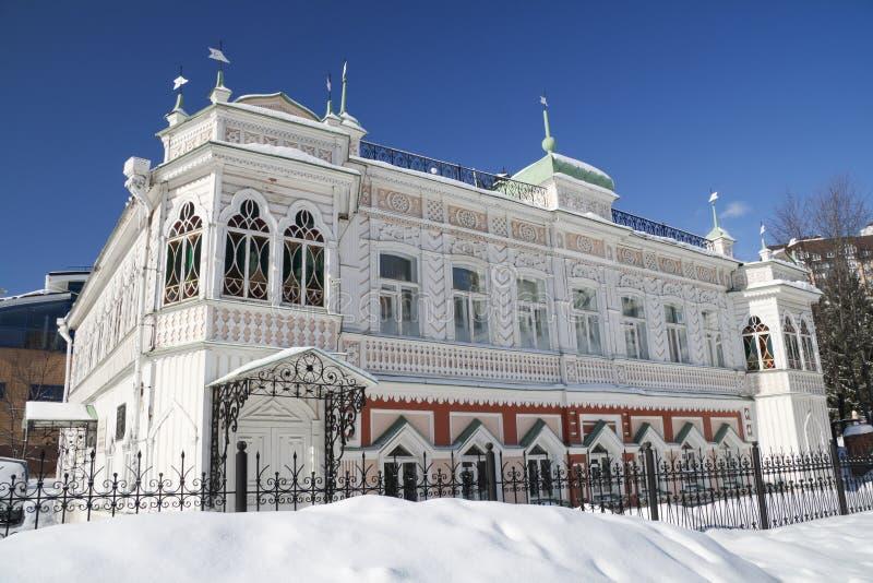 Σπίτι των εμπόρων Agafurovyh στοκ εικόνα με δικαίωμα ελεύθερης χρήσης