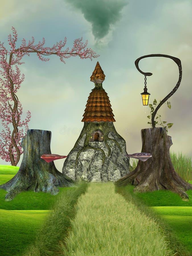 σπίτι φαντασίας διανυσματική απεικόνιση