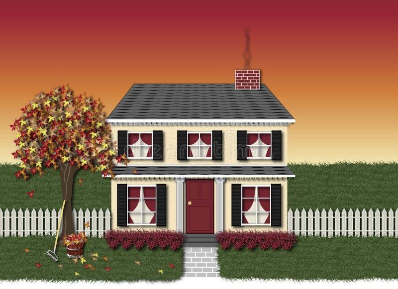 σπίτι φθινοπώρου διανυσματική απεικόνιση