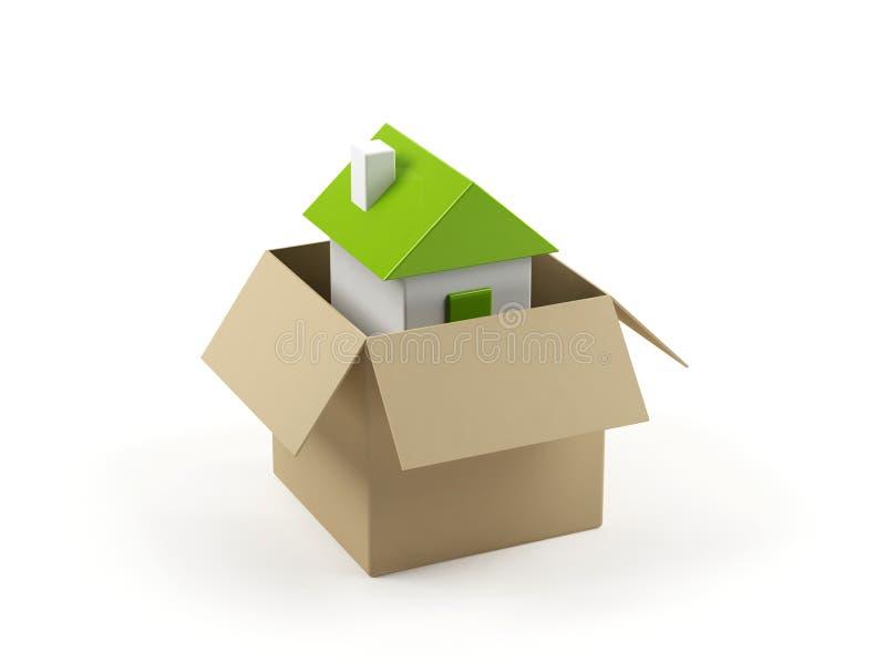 σπίτι χαρτονιού κιβωτίων απεικόνιση αποθεμάτων