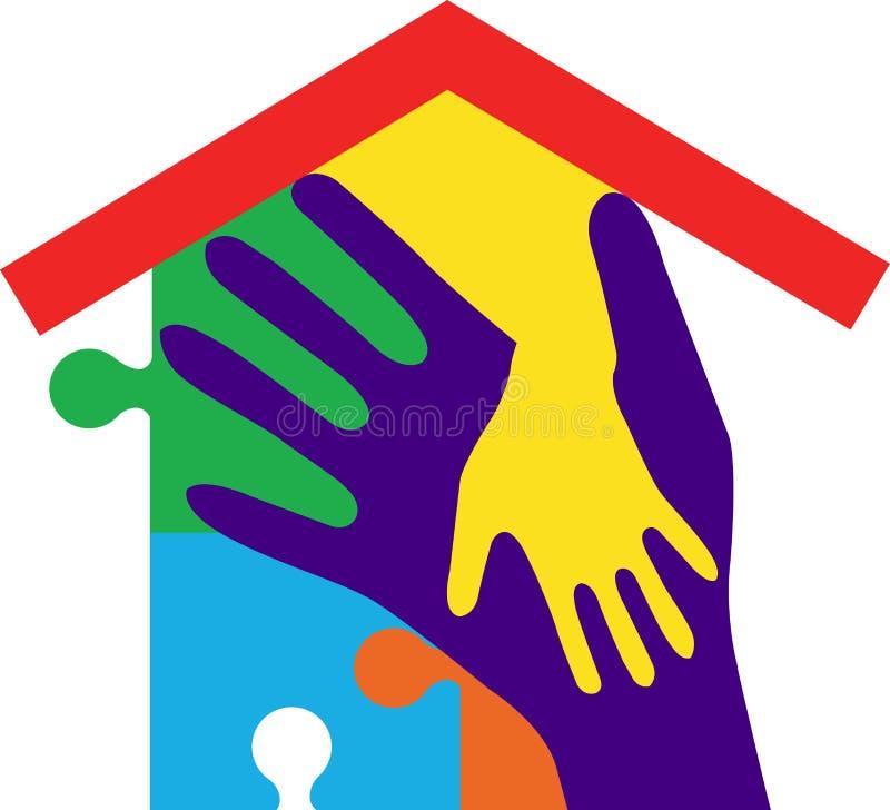 σπίτι χεριών ελεύθερη απεικόνιση δικαιώματος