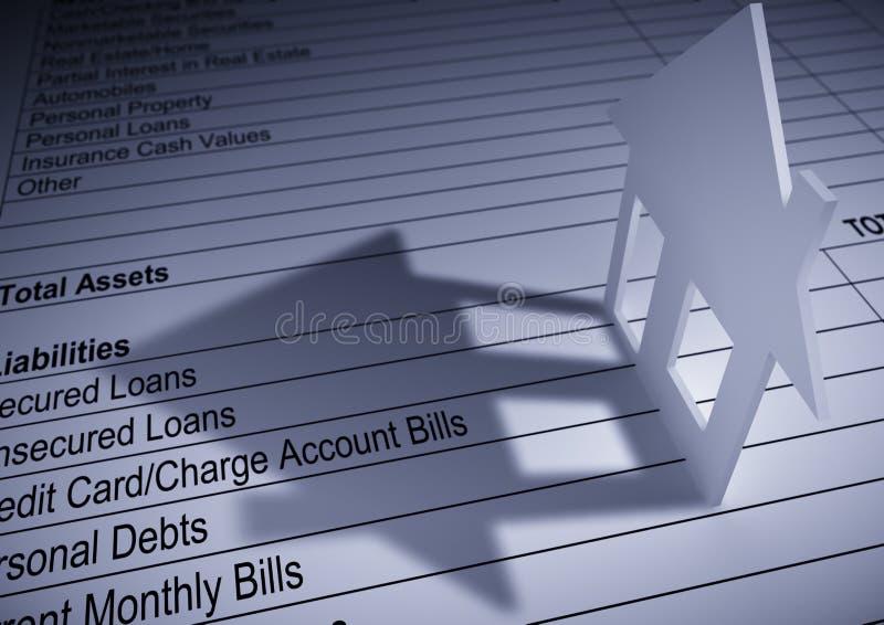 σπίτι χρηματοδότησης διανυσματική απεικόνιση
