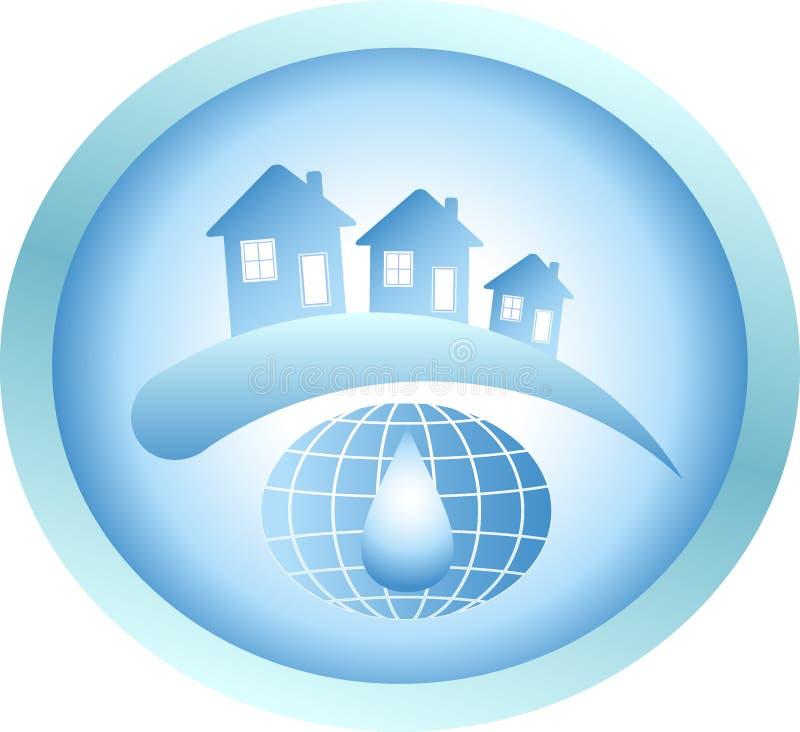 Σπίτι ύδατος απεικόνιση αποθεμάτων