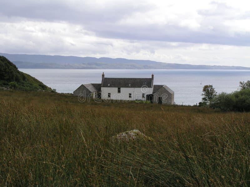 Σπίτι Barnhill στο νησί Jura στοκ εικόνες
