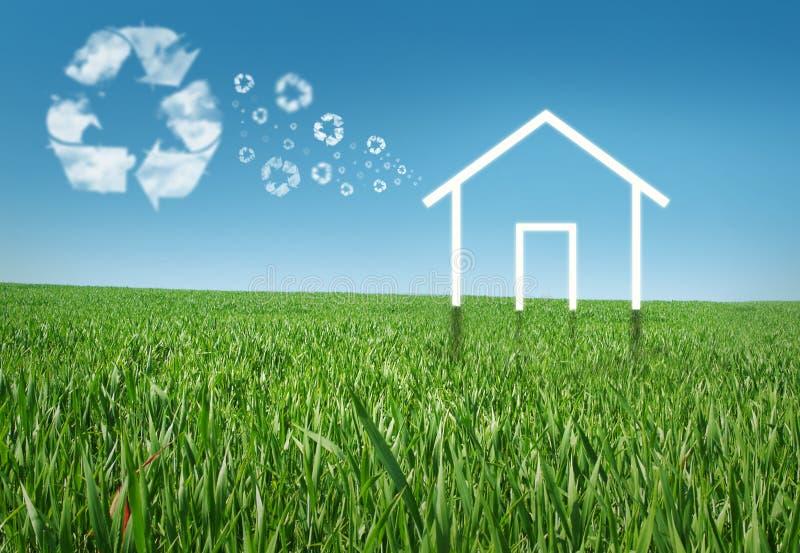 σπίτι eco στοκ εικόνα με δικαίωμα ελεύθερης χρήσης