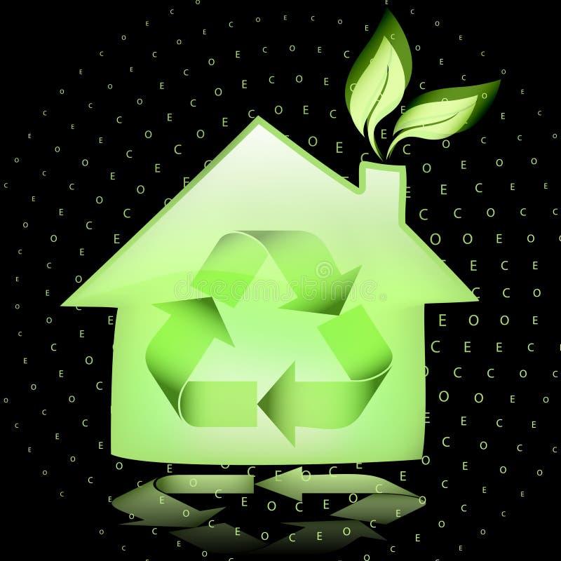 σπίτι eco διανυσματική απεικόνιση