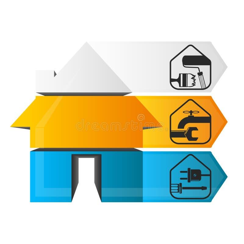 Σπίτι infographics επισκευής απεικόνιση αποθεμάτων