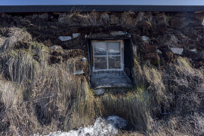 Σπίτι Inuit στην πόλη του Ιλούλισσατ της Γροιλανδίας Το Μάιο του 2016 στοκ εικόνες με δικαίωμα ελεύθερης χρήσης
