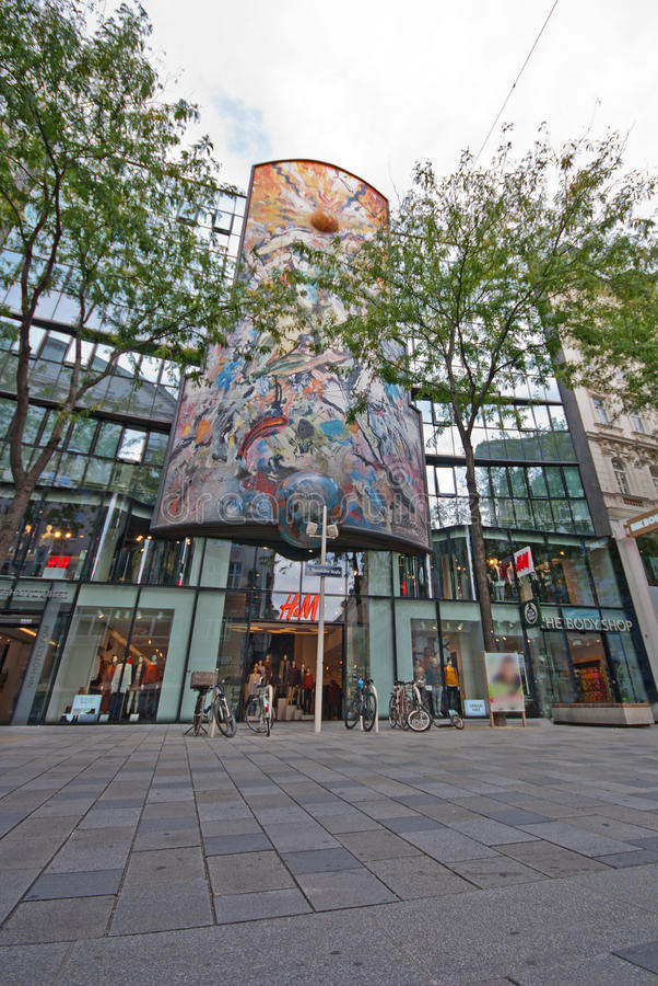 Σπίτι Mariahilfer Straße Attersee στοκ φωτογραφίες