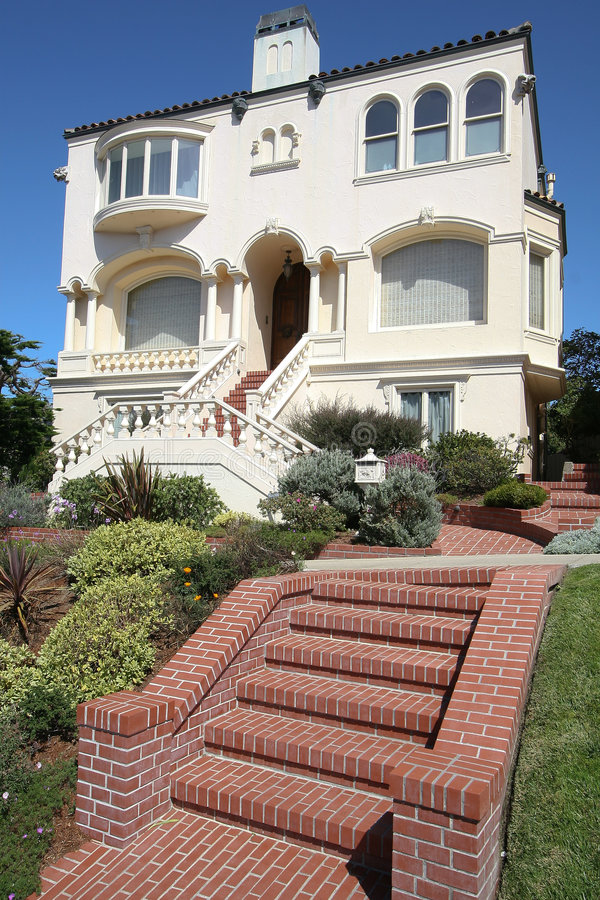 σπίτι SAN Francisco ονείρου στοκ εικόνα με δικαίωμα ελεύθερης χρήσης