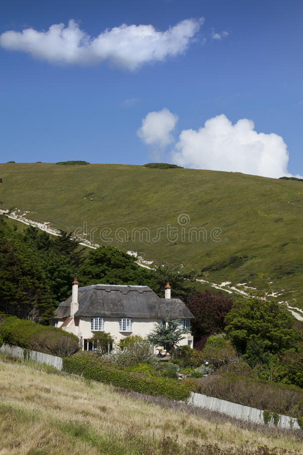 Σπίτι Thatched στοκ φωτογραφία με δικαίωμα ελεύθερης χρήσης
