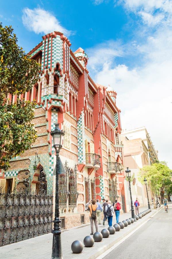 Σπίτι Vicens Casa που σχεδιάζεται από το Antoni Gaudi στοκ φωτογραφία με δικαίωμα ελεύθερης χρήσης