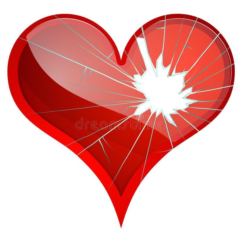 σπασμένες καρδιές Η απέχθεια, θλίψη, που καταστρέφεται τα θέματα, ρήξη, χωρίζει απεικόνιση αποθεμάτων